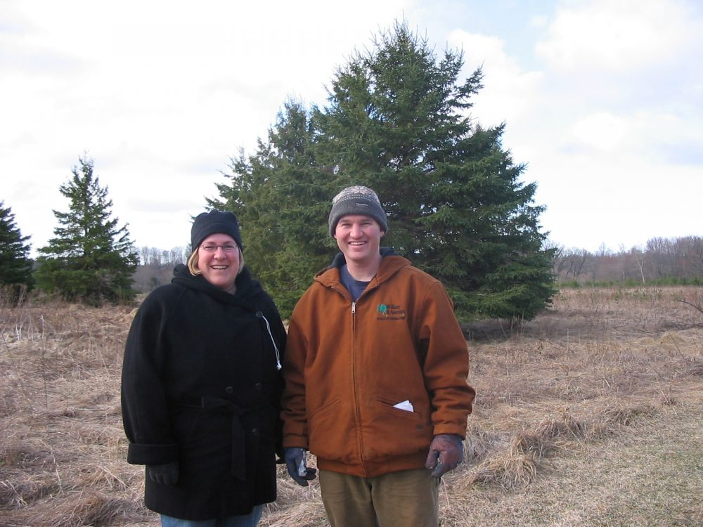 Brett and Kathy picking our tree