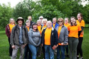 smiling group of citizen pruners