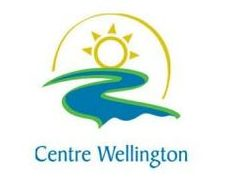 centre wellington logo (sun overtop a river)