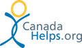 Canada Helps.org logo (intersecting blue arcs with a yellow circle on top)