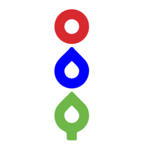elora environment centre (red circle, blue drop, green tree) logo
