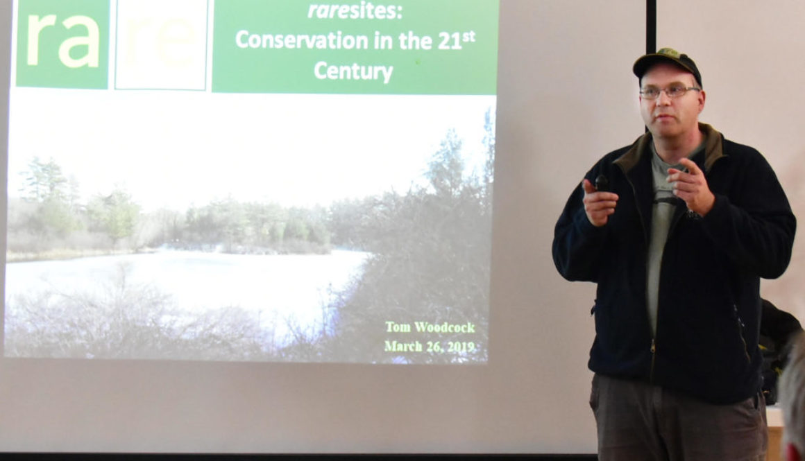 Tom Woodcock presenting at the 2019 Spring tree talk